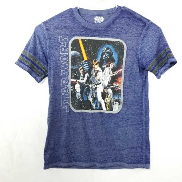 Star Wars Other - Star Wars Mens Blue Graphic T-Shirt Size M